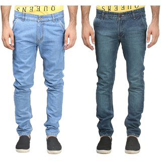 Trendy Trotters Men's Regular Fit Blue Jeans