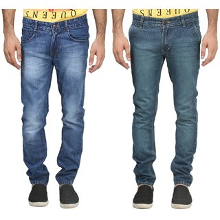 Trendy Trotters Men's Regular Fit Blue Jeans