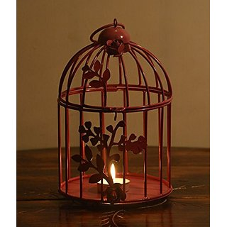 Buy Avmart Pink Set Of 2 Home Decoration Show Piece Bird Cage