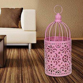 AVMART Pink Bird Cage Home Decor Candle Tea Light Holder