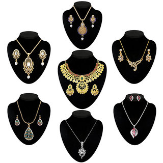Meia Set Of 7 Necklace Combo-1003559