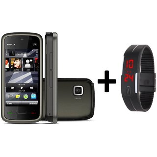 Refurbished Nokia 5233 (6 Month Warranty bazaar Warranty) + Digital watch