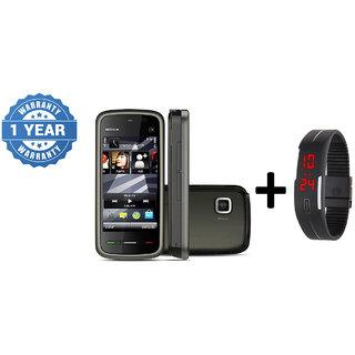 Refurbished Nokia 5233  (1 Year Warranty bazaar Warranty) + Digital watch
