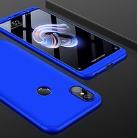 Redmi Note 5 Pro Blue Colour 360 Degree Full Body Protection Front Back Case Cover Standard Quality