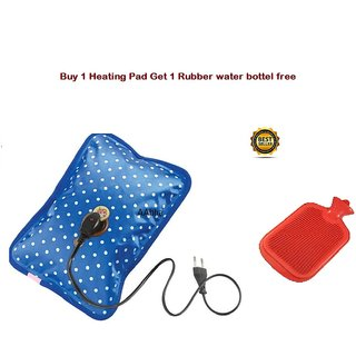 AAbha Electric Heating Gel Pad Hot Water Bags for Joint/Muscle Pains ( Buy 1 Heating Pad 1 Rubber water bag Free )