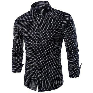 Tokyo Trendz  Man's BLACK DOTTED Stylish Shirts