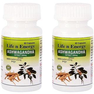 Life N Energy Pure Ayurvedic Ashwagandha Extract 500 mg capsules 120 capsules pack