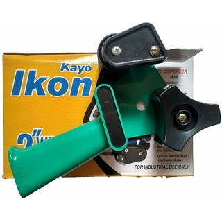 MH Kayo Ikon 2 Inch Tape Dispenser with Stainless Steel Blade Plastic body light weight