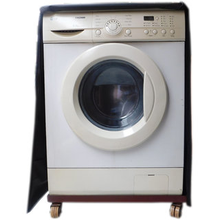 Front Loading Fully Automatic Washing Machine waterproof Cover (Black Color).