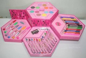 StyloHub 46 Piece Art Set (Pcs Color Set, Color Pencil, Crayons, Oil Pastel, Sketch Pens)