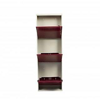 Swastik Furniture -   3Door Maroon Shoe Rack