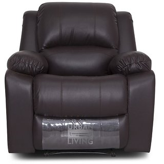 Swastik Furniture - Urban Living Colorado Compact ReclinerBrown