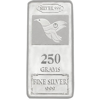 Maa Silver 999 Purity Silver Bar 250gm Silver Coins