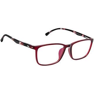 Cardon Maroon Rectangular Full Rim EyeGlass