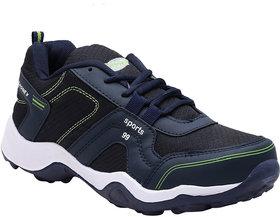 Jasico Men's Synthetic/Mesh Navy Green Sport Shoe