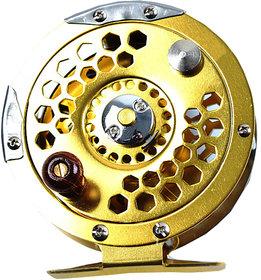 Futaba Metal Fly Fishing Wheel Reel - Gold - 800A