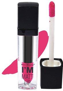 Kiss Beauty I'm Matt Lip Long Lasting Waterproof Lipgloss Lipstick Pink Shade