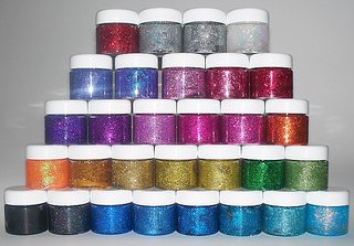 ATTRACTIVE GEL GLITTER FOR BODY AND HAIR SET OF 12 COLORS