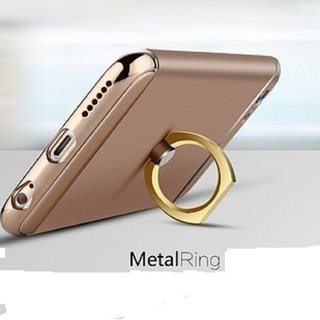Metal Finger Ring Phone Holder Universal 360 Rotate  - Assorted Colors (Gold,Silver,Black,Pink)