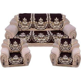 Manvi Creations cotton 5 Seater Sofa cover