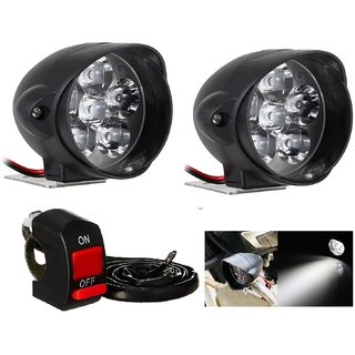 23dd1d7b53f Buy Autosky Motorcycle 9V-85V 6 LED Front Headlight Spot Fog Lights Head  Bulb Fog 2pcs Lights with ON-OFF Switch Online   ₹470 from ShopClues