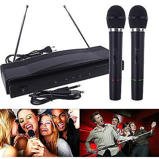 AMRIT Professional Vhf Series 2 in 1 Dual Wireless / Cordless Microphone