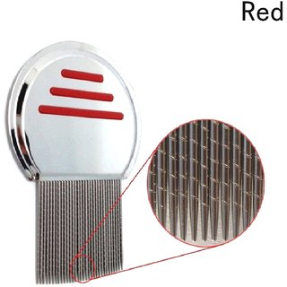 QD Red Stainless steel  Lice Comb ,Very effective for Head Lice and Nit Remover Lice remover tool Hair care tool