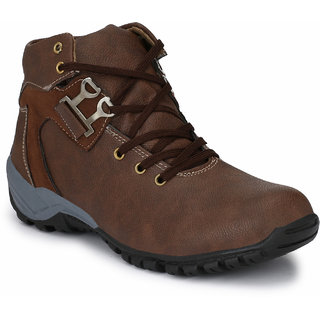 Shoe Rider Men's Brown Synthetic Casual Boot