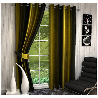 VAANI HD  HDSet of 2 LongWindow Eyelet Curtains Vento Print 5 Feet( set of 2 curtains 4x5 )