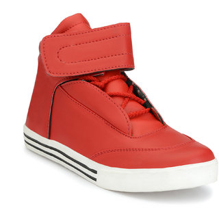 Shoe Rider Men's Red Synthetic Casual Shoes