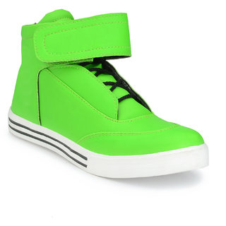 Shoe Rider Men's Neon Green Synthetic Casual Shoes