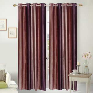 VAANI HD  HDSet of 2 Long Door Eyelet Curtains Vento Print 9 Feet ( set of 2 custains 4x9)