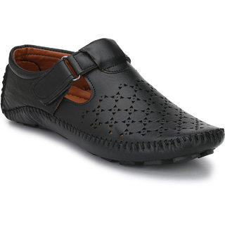 Shoe Rider Men's Black Synthetic Casual Loafer
