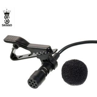 SEGGO Mini Clip-on 3.5mm Collar Mic Recording For Youtubers Microphone