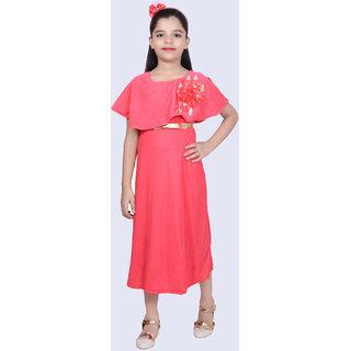 KBKIDSWEAR girl's Chiffon Net Fabric Party Special Dress