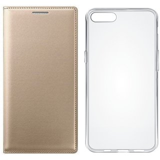 Moto G5 Plus Flip Cover with Silicon Back Cover by Vivacious