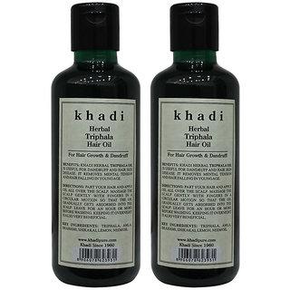 Khadi Herbal Triphala Hair Oil - 210ml (Set of 2)