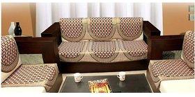 Manvi Creations polycotton 5 Seater Sofa cover (tile)