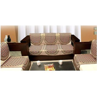 Manvi Creations polycotton 5 Seater Sofa cover (tile)