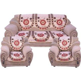 Manvi Creations Polycotton 5 Seater Sofa covern (sunflower)