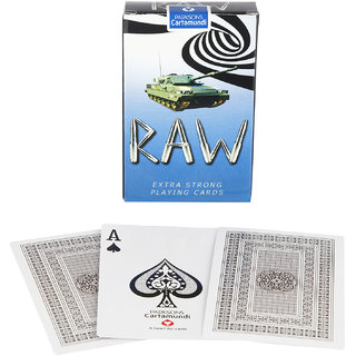 Parksons Cartamundi Plastic Coated Paper Playing Card (Raw) for fun / game / party - Pack of 2