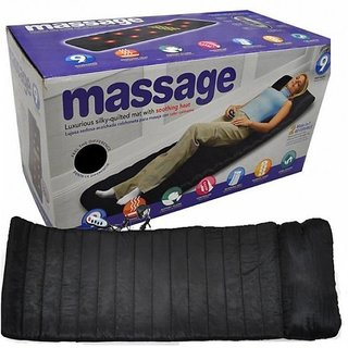 Soft Velvet Vibrating Massage Bed, Remote Controlled Full Body Massaging Mat Massager Mattress For Relaxation  Massage