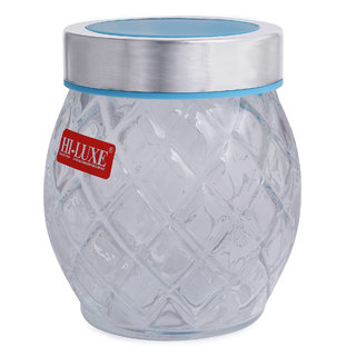 8e003f3d0874 Buy Hi Luxe Glass jarTransparent Air Tight and Rust Proof Cap ...