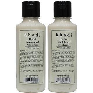 Khadi Herbal Sandalwood Moisturizer - 210ml (Set of 2)