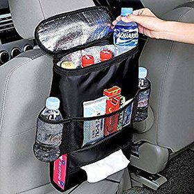 Back Seat Organiser with Multi-Pocket  Cool Hot Thermal Bag Insulation Travel Storage Bag Car accessories