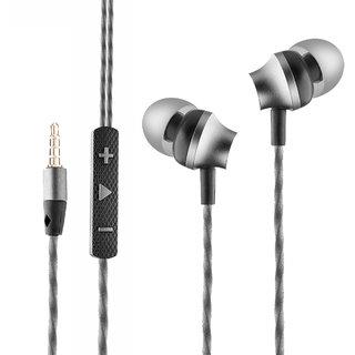 Ambrane EP-60 in-Ear Metal Headphones with Mic (Black)