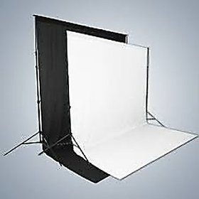 8 X12 FT BLACK WHITE LEKRA BACKDROP PHOTO LIGHT STUDIO PHOTOGRAPHY BACKGROUND