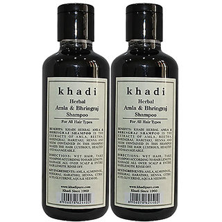 Khadi Herbal Amla  Bhringraj Shampoo - 210ml (Set of 2)