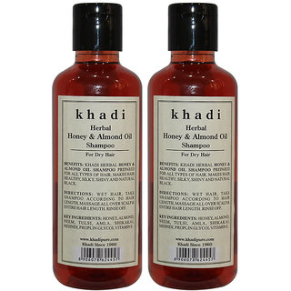 Khadi Herbal Honey  Almond Oil Shampoo - 210ml (Set of 2)