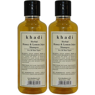 Khadi Herbal Honey  Lemon Juice Shampoo - 210ml (Set of 2)